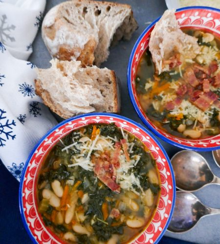 Galician White Bean Soup with Kale and Optional Chorizo