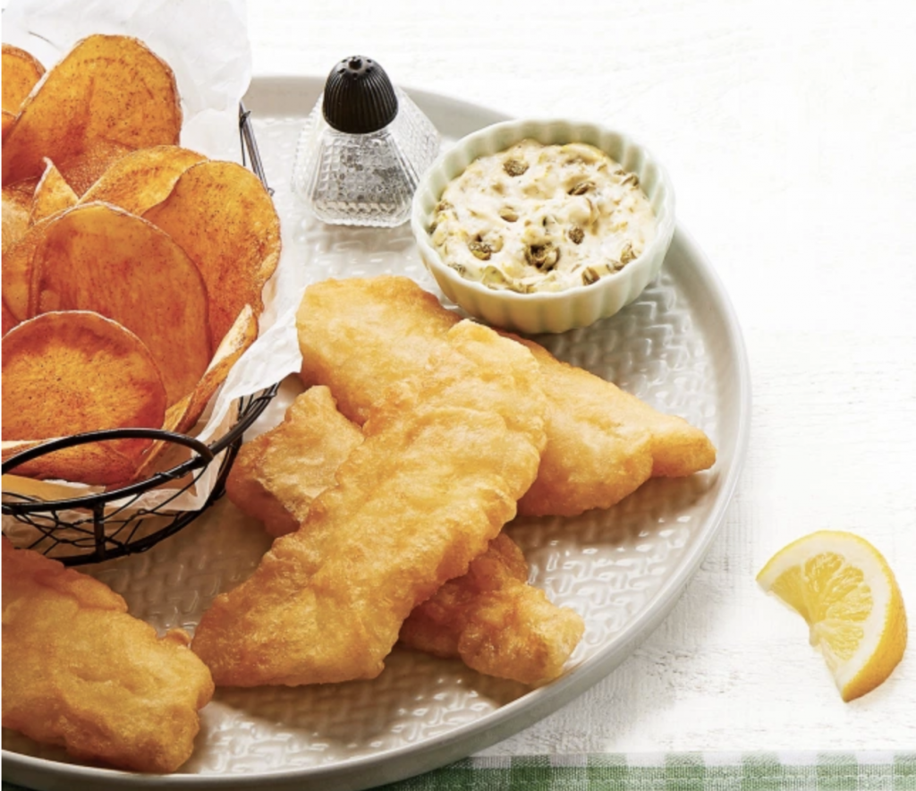 Dinner and a movie Ireland: fish and chips from Clean Eating magazine