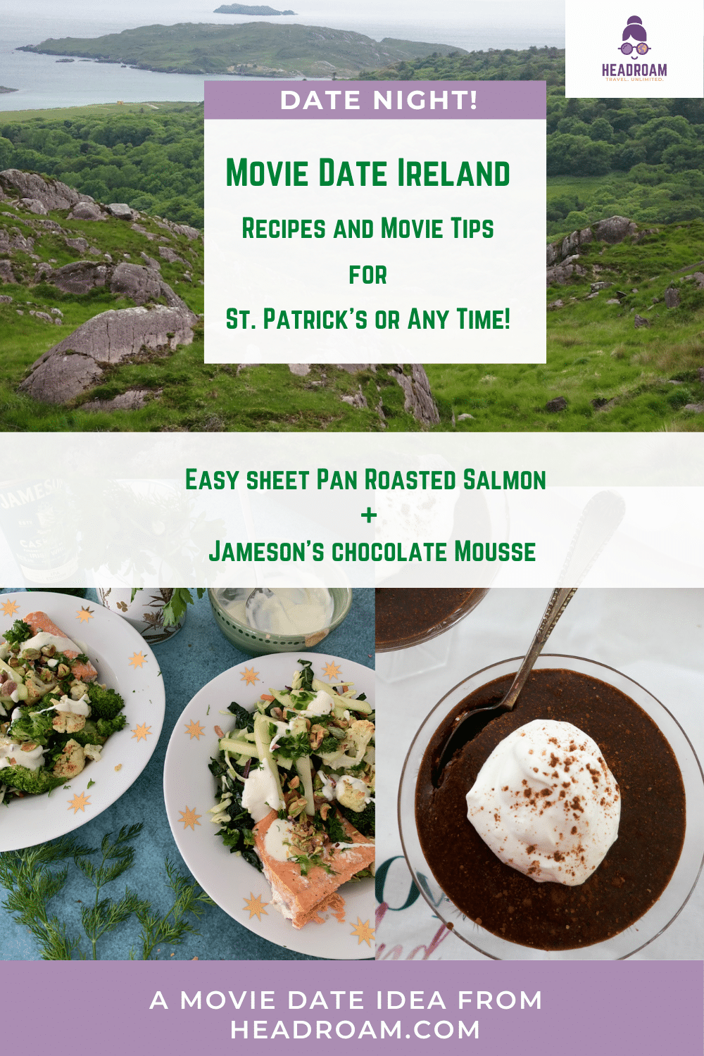 Movie Date Ireland: 2 Delicious Courses and Many Movies to Celebrate March 17th