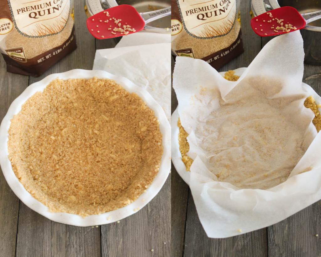 quinoa crusted quiche