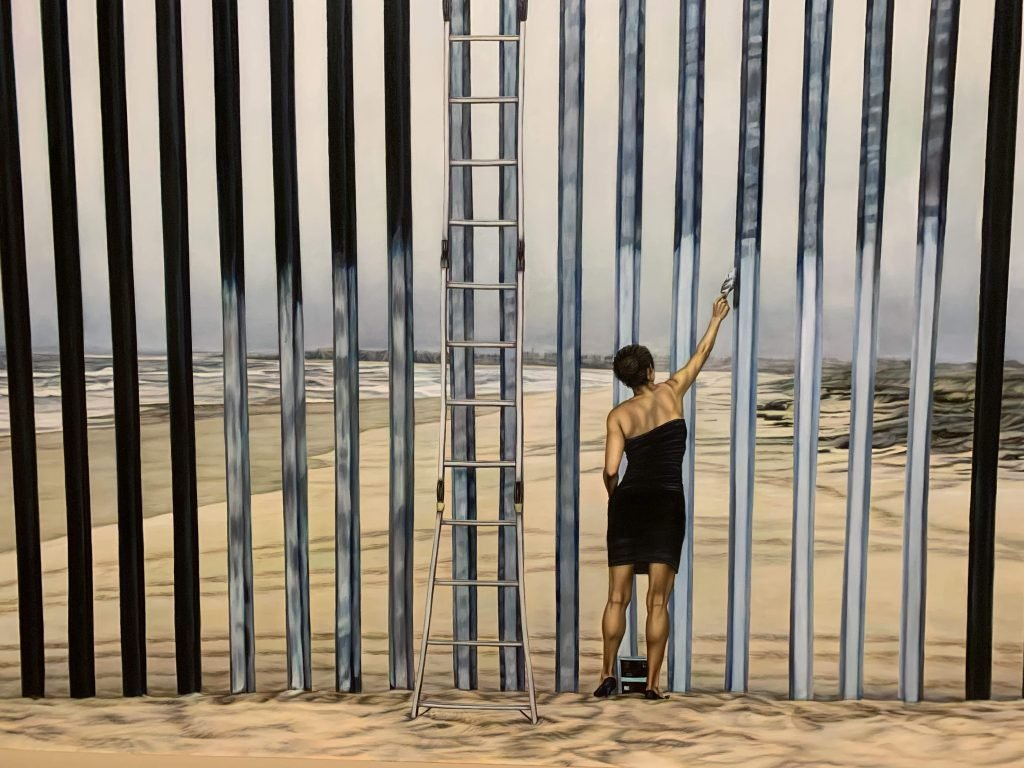 """palm springs guide: """"Erasing the Border"""" art from Ana Teresa Fernández at The Palm Springs Museum"""