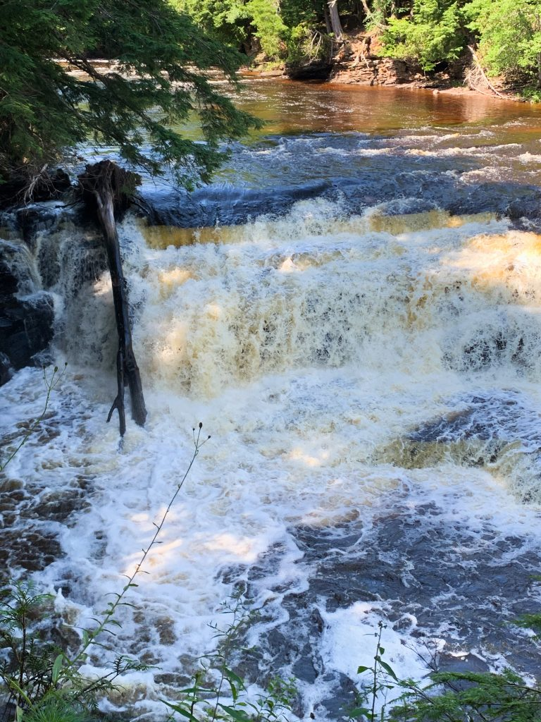 best places to visit in upper peninsula michigan: presque ile waterfalls