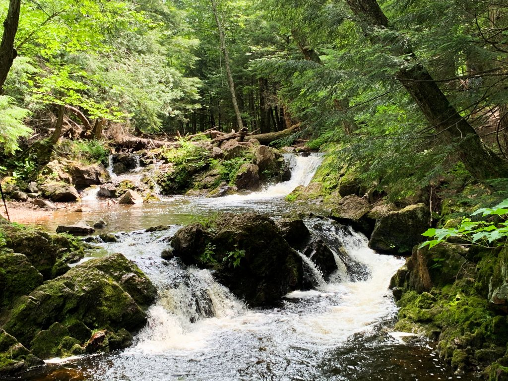 best places to visit in upper peninsula michigan: union river cascades loop