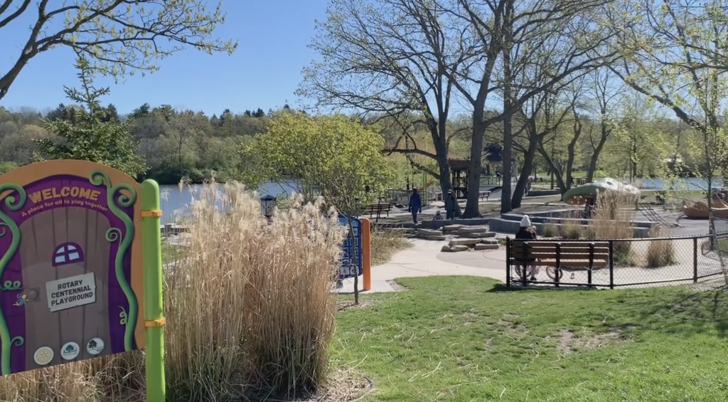 Parks in Ann Arbor: the playground at Gallup Park