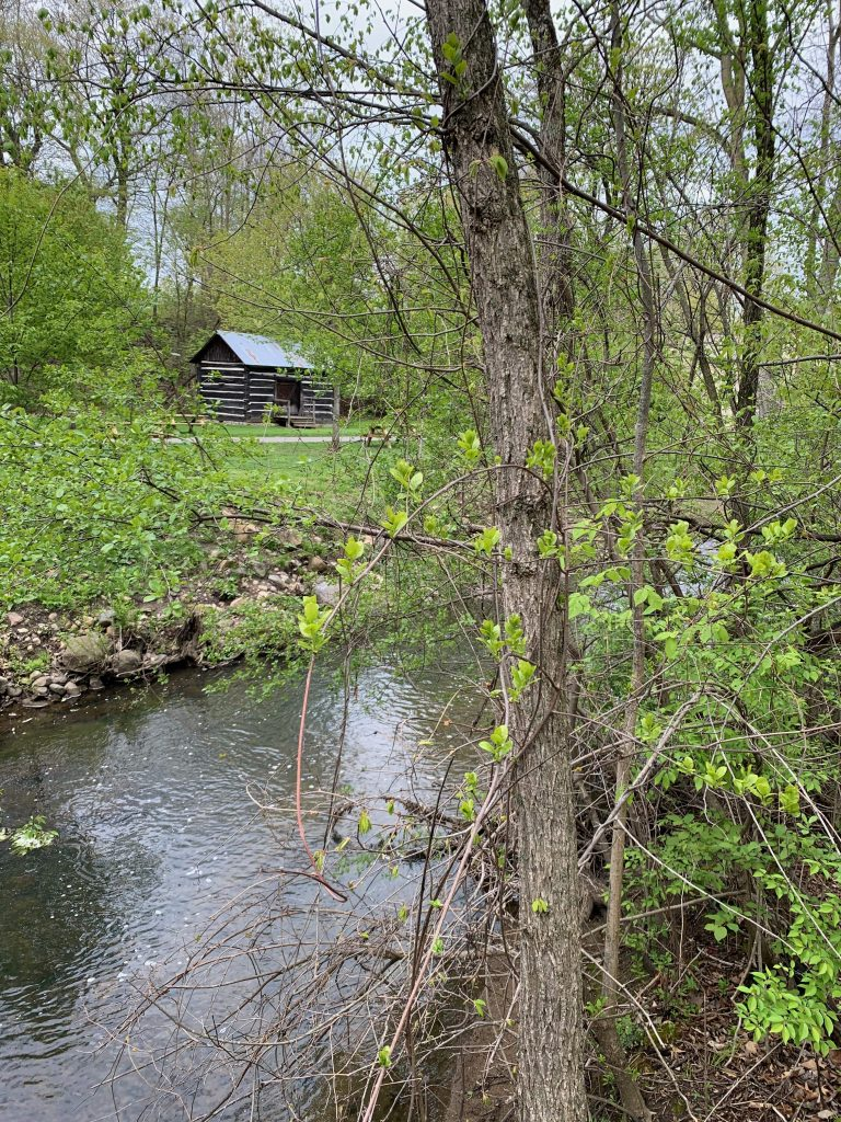 Parks in Ann Arbor: Parker Mill log cabin from 1878