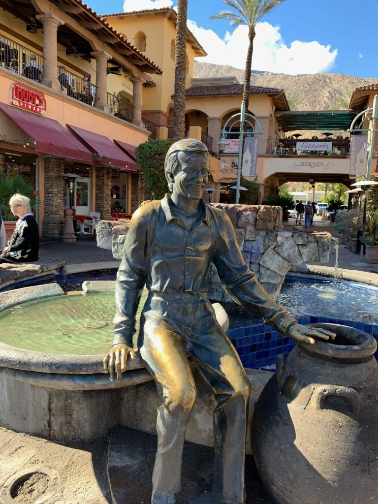palm springs guide: the sonny bono statue in downtown palm springs