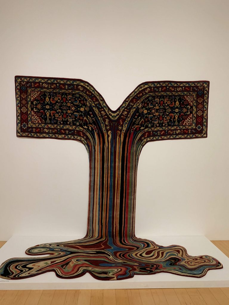 """palm springs guide: """"melting carpet"""" art from Faig Ahmed at The Palm Springs Museum"""