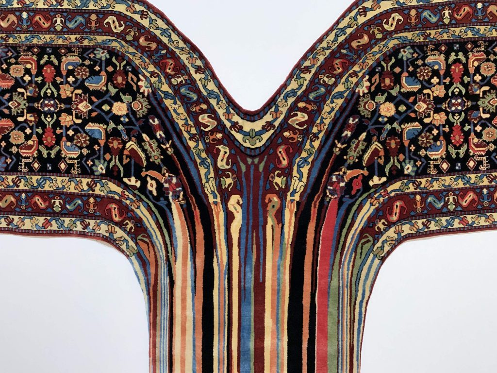 """palm springs guide: """"melting carpet"""" art from Faig Ahmed at The Palm Springs Museum, detail"""