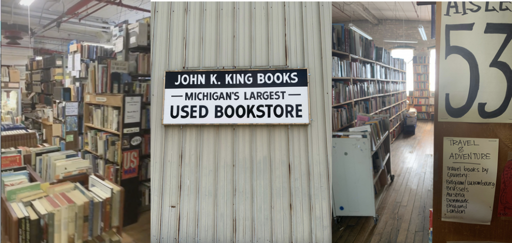 With 4 floors to browse, John R. King is at the top of a booklover's list of fun things to do in Detroit.
