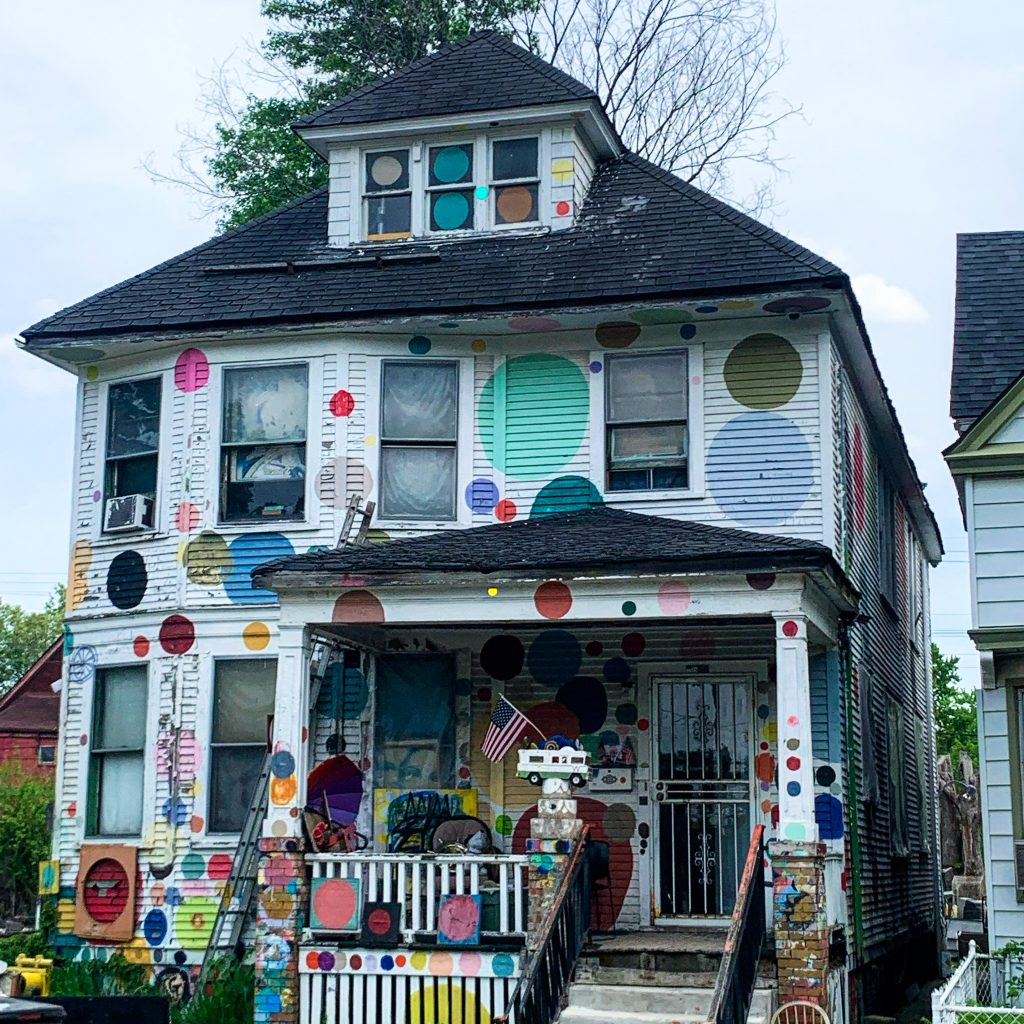 Tyree Guyton's Heidelberg Project is an open air found art extravaganza that takes over the Heidelberg block in Eastern Detroit. It's one of our favorite Fun Things to do in Detroit.