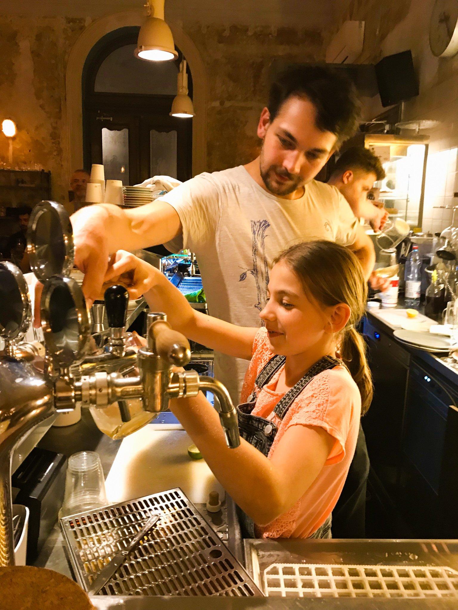Prague bartender and his little sister