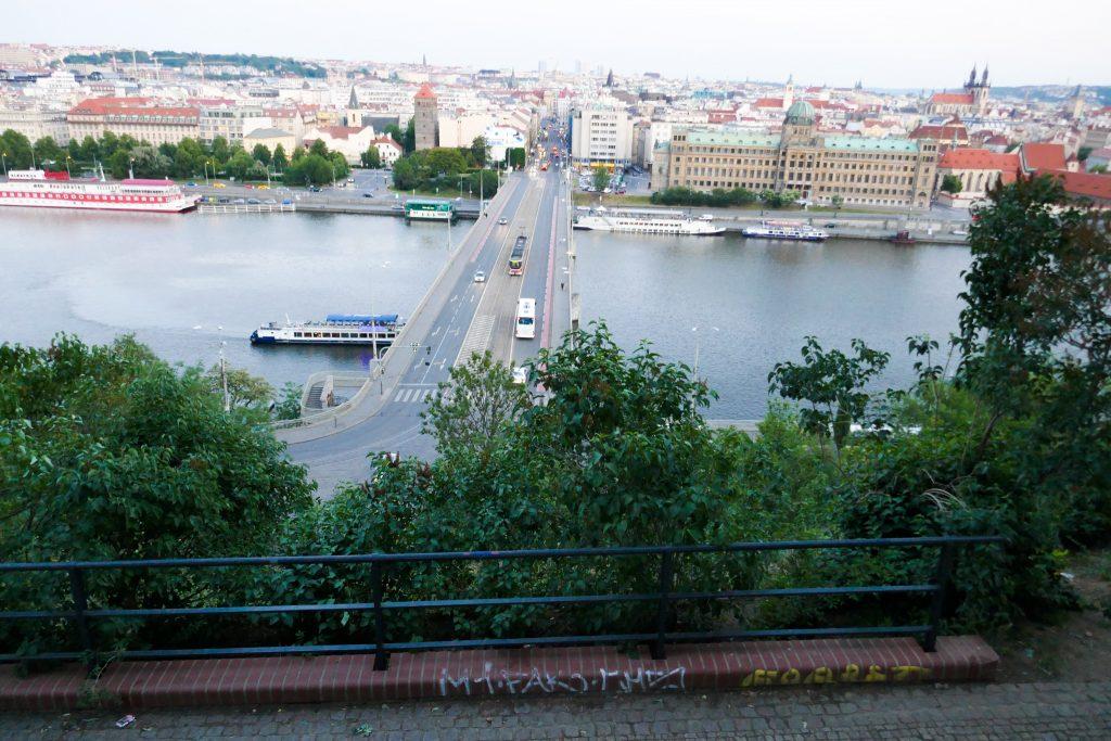View from Letna Park across the Vtalva River, sightseeing Prague