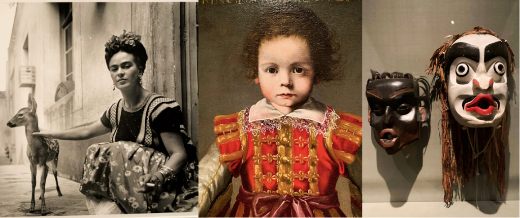 A photo of Frida Kahlo, a Vitali royal portrait, and Native American masks are just some of the offerings at the DIA, Detroit institute of Art.