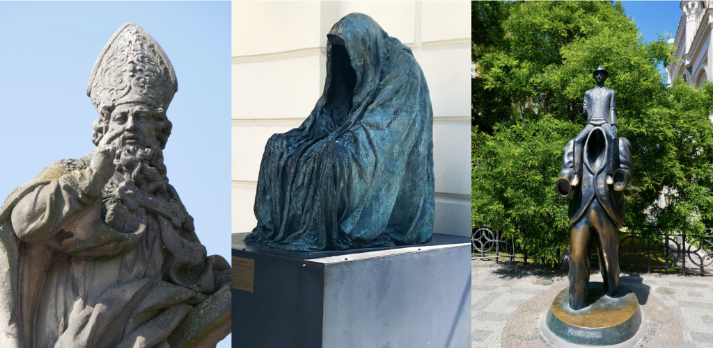 Good King Wenceslaus, a creepy monk, and a tribute to Kafka: outdoor sculptures is one of our favorite parts of sightseeing Prague.
