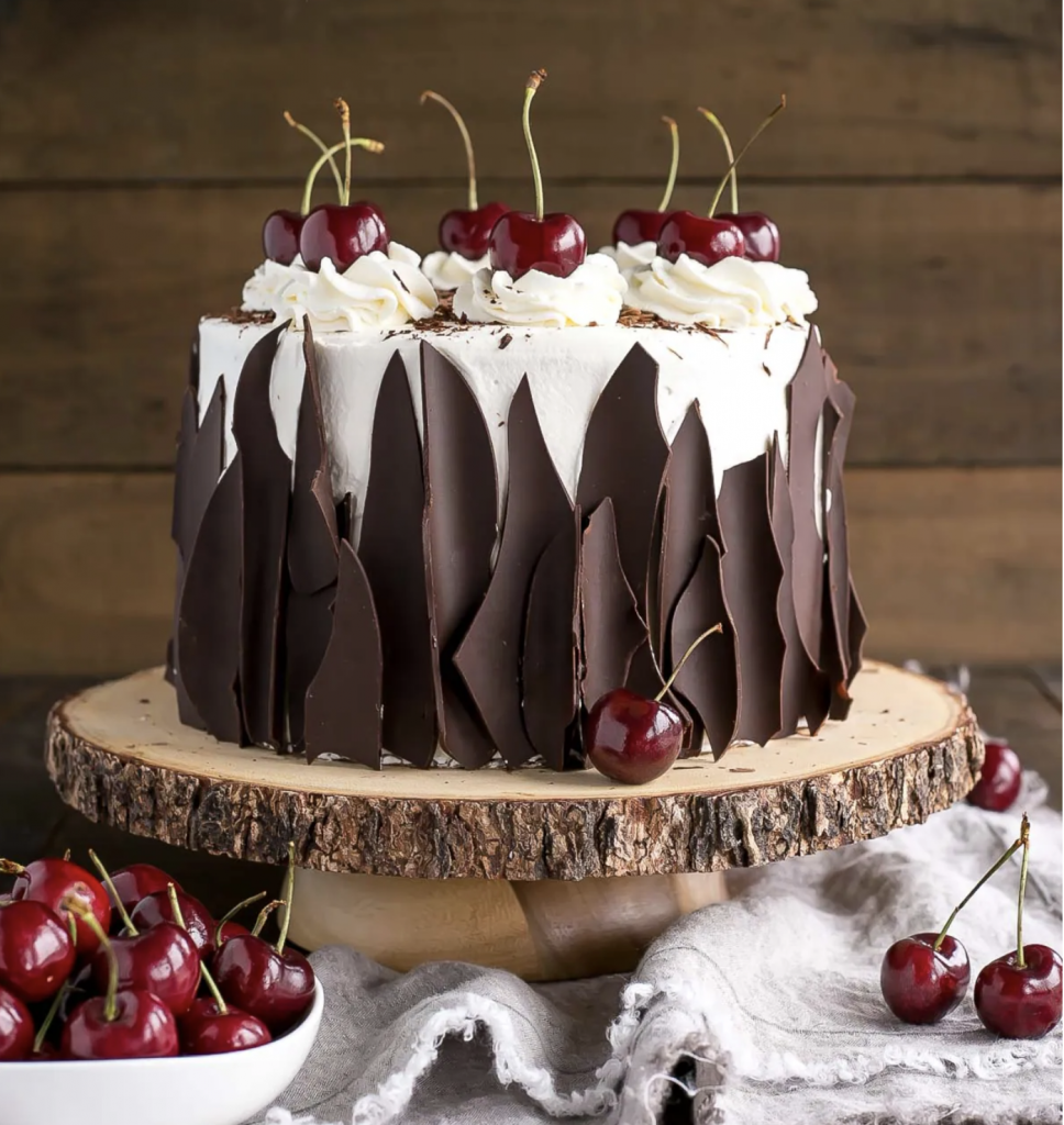 A photo of Black Forest Cake from the site Liv for Cake.