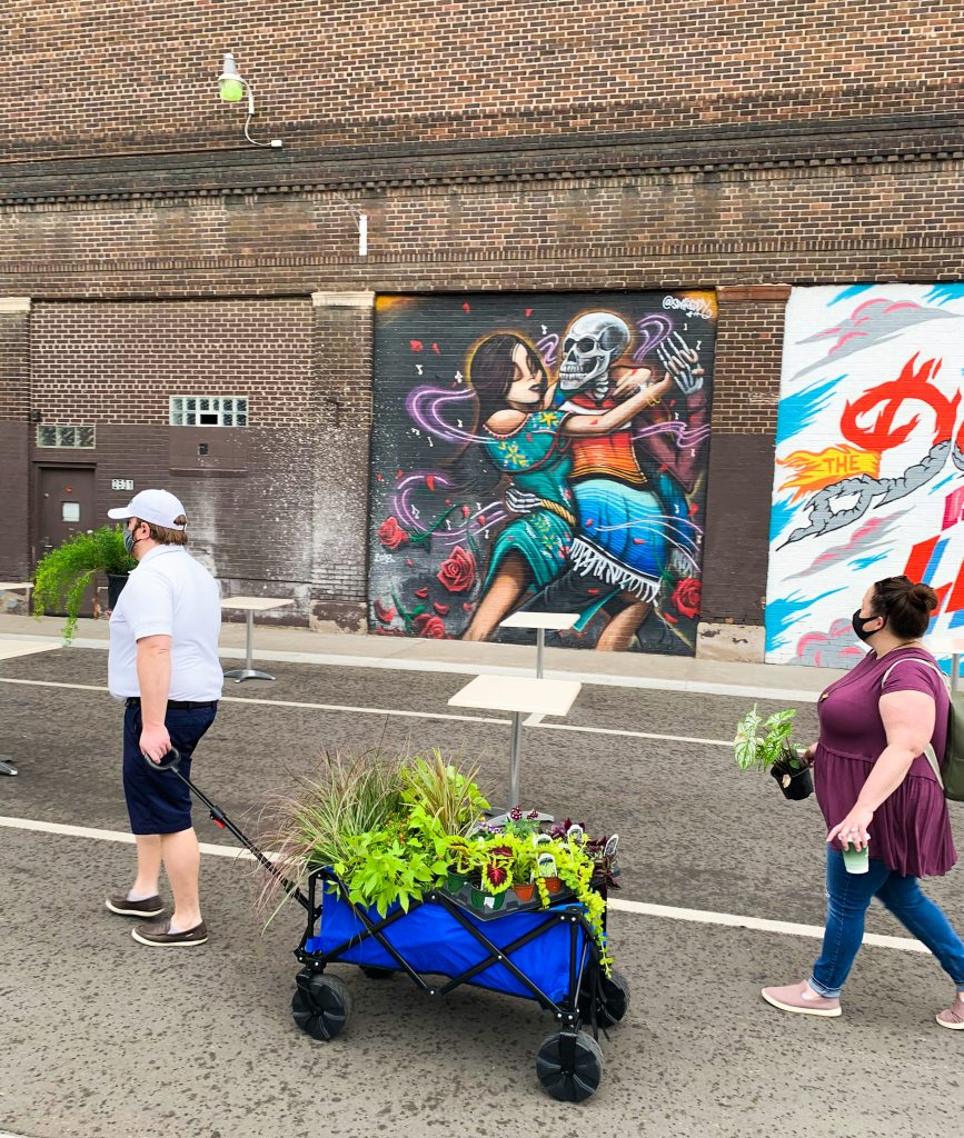 Shopping at Eastern Market is one of our favorite fun things to do in Detroit. Bring a cart!