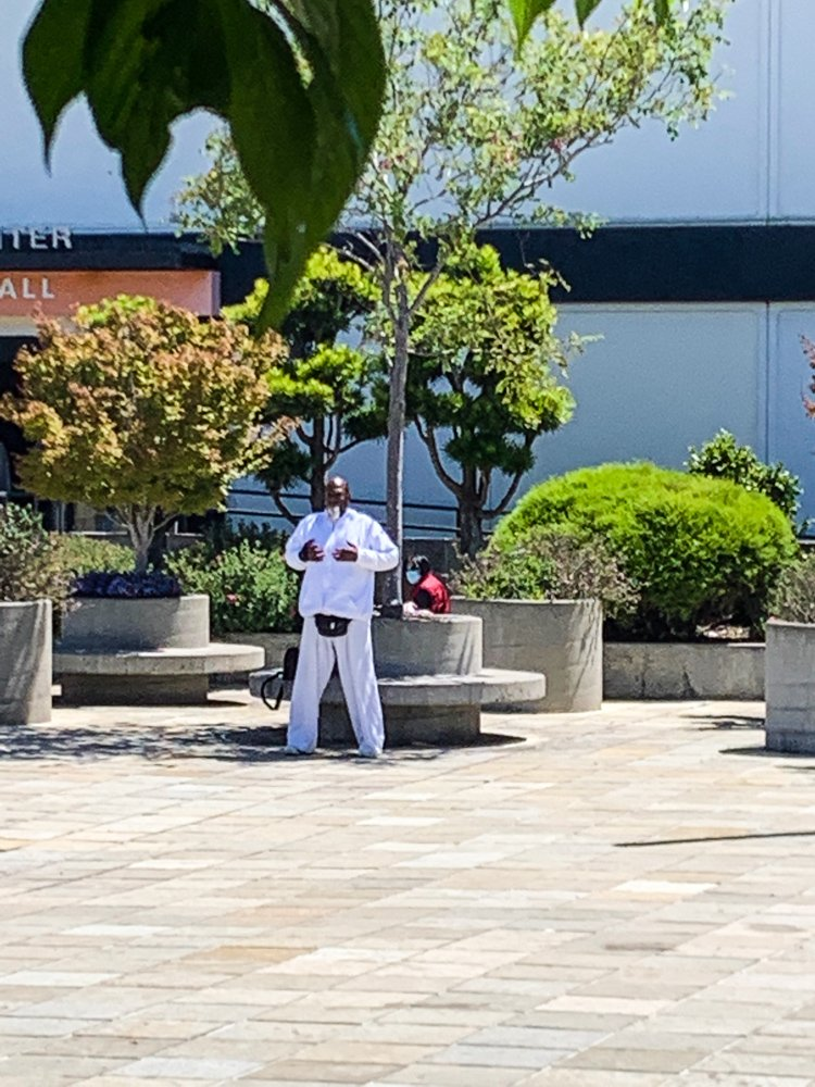 Peace Plaza martial arts practitioner
