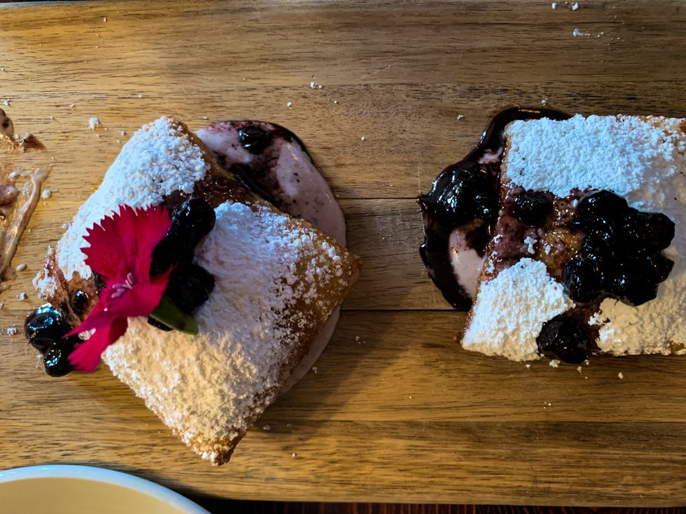 huckleberry beignets from the Belton Chalet in Montana