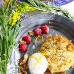Spiced Lemon Rosemary Cake with Walnuts: A Beautiful Springtime Treat
